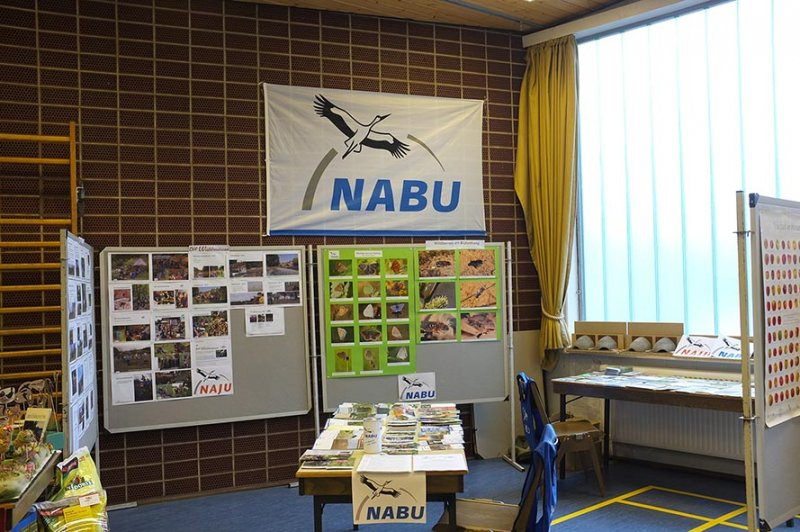 Aufbau Infomesse - NABU-Stand 1