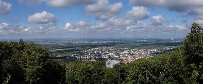 Einweihung Burgfried Tannenburg - Panorama Seeheim 1 10x24s