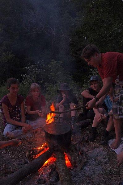 Lagerfeuer am Dreiecksfelsen 02