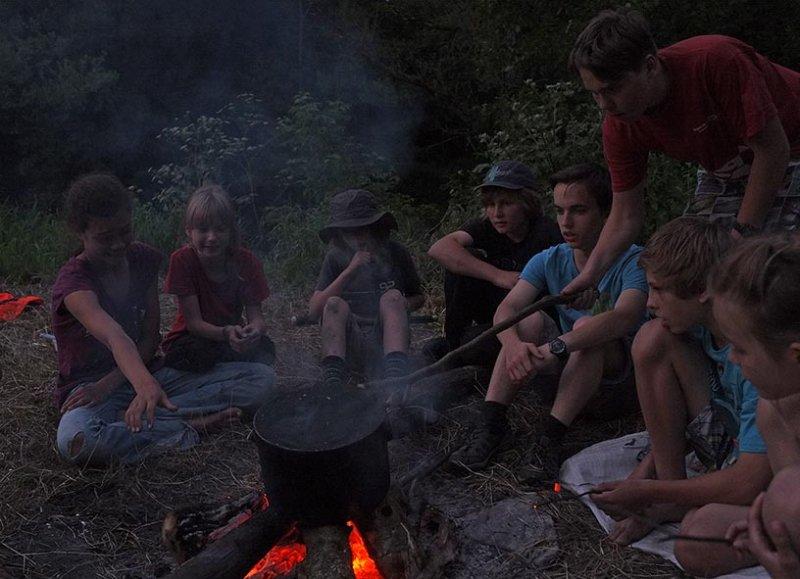 Lagerfeuer am Dreiecksfelsen 07