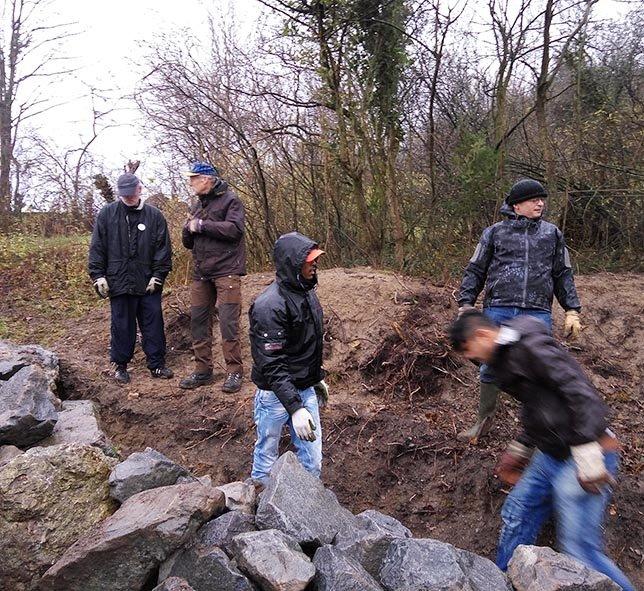 Steinschüttung Steine wälzen 3