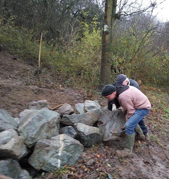 Steinschüttung Steine wälzen 5