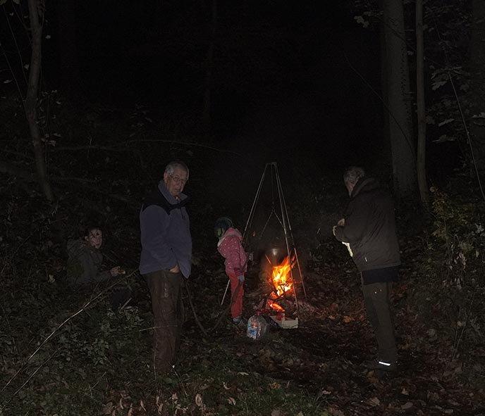 Sternwanderung - Lagerfeuer am Wühlmaushotel mit Ecki 4