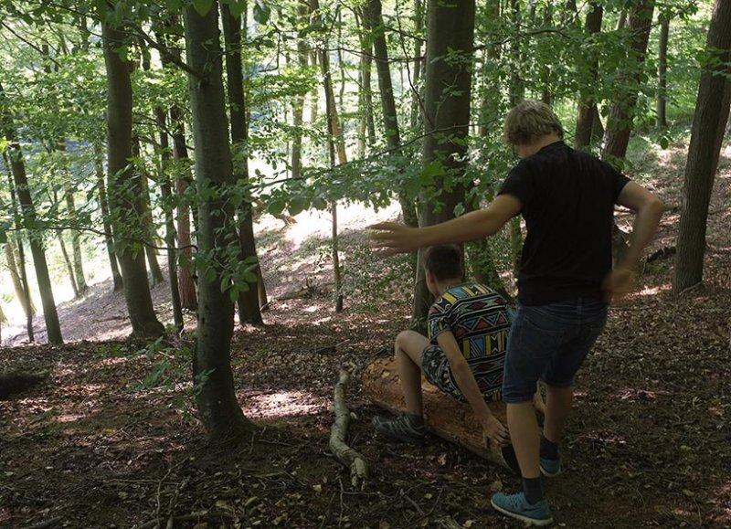 NAJUs im Wald - Rutschpartie 2