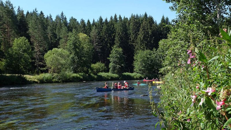 Auf dem Fluss 2 10x18