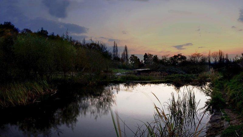 Hermelinweiher nach Sonnenuntergang