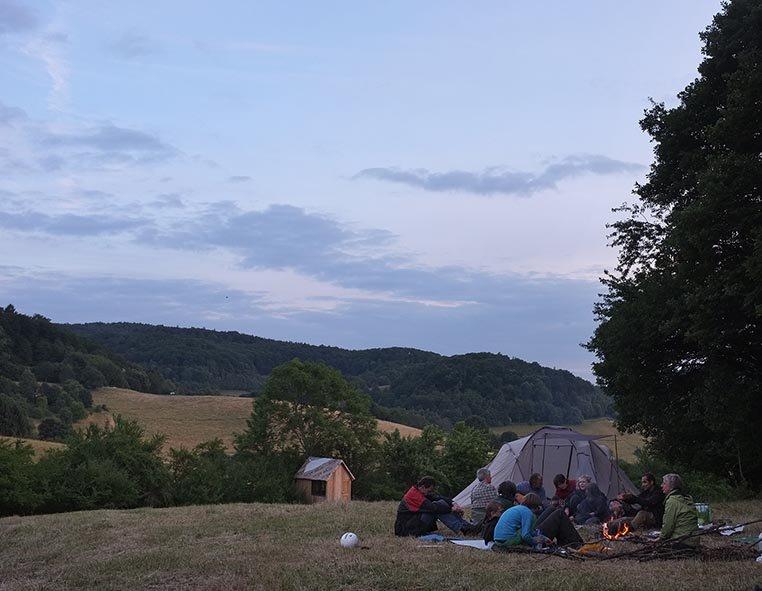57 NAJU Sommerlager Lagerfeuer