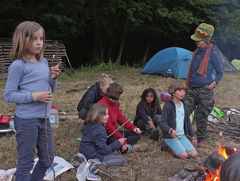 60 NAJU Sommerlager Lagerfeuer