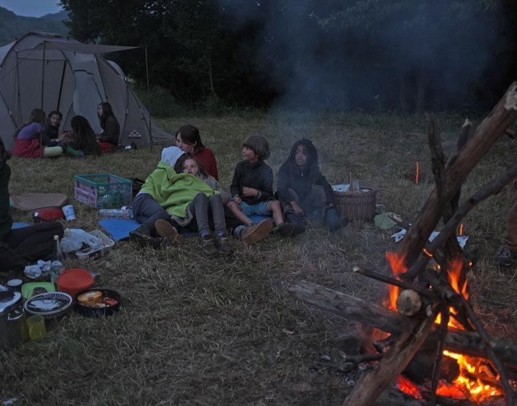 61 NAJU Sommerlager Lagerfeuer Nacht