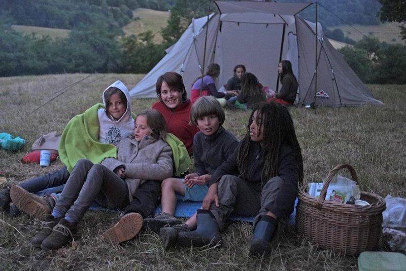 62 NAJU Sommerlager Lagerfeuer Nacht