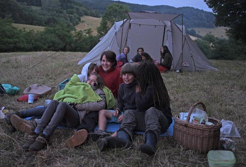 63 NAJU Sommerlager Lagerfeuer Nacht