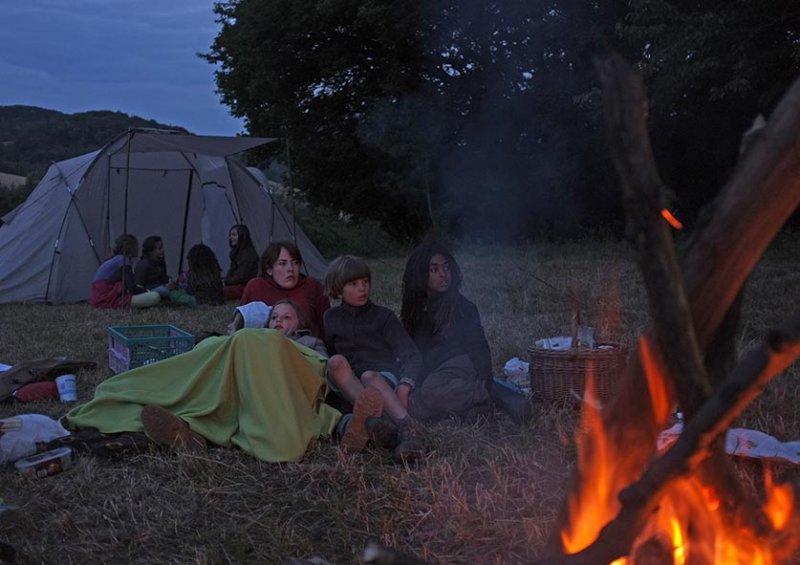 65 NAJU Sommerlager Lagerfeuer