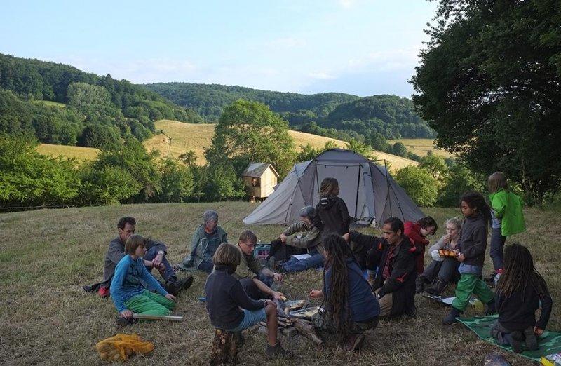 27 NAJU Sommerlager Lagerfeuer
