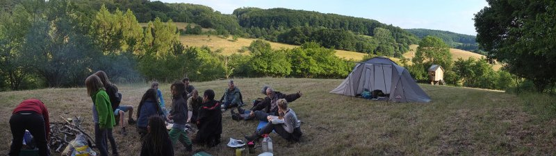 28 NAJU Sommerlager Lagerfeuer