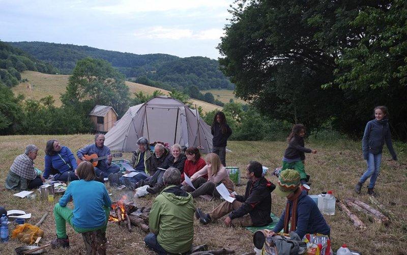 40 NAJU Sommerlager Lagerfeuer Martins Lied