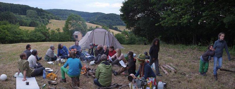 41 NAJU Sommerlager Lagerfeuer Martins Lied