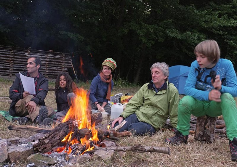 50 NAJU Sommerlager Lagerfeuer