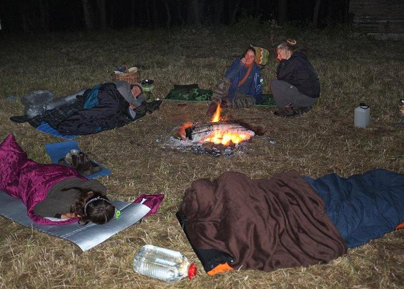 66 NAJU Sommerlager Wallhausen - Nachts am Lagerfeuer