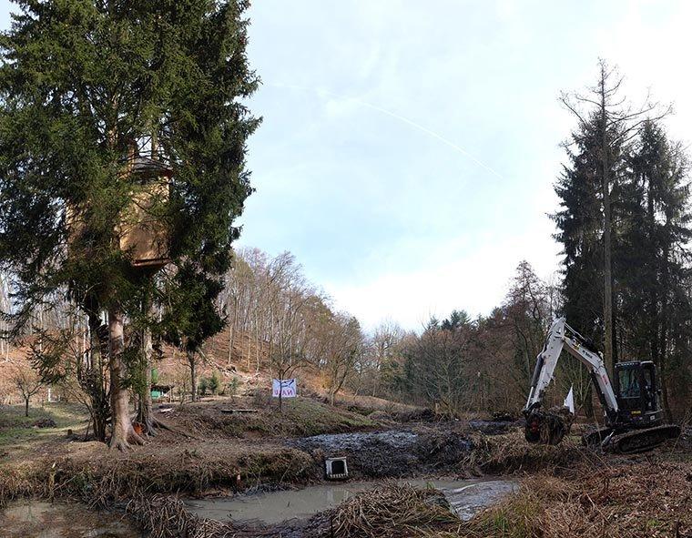 Baggereinsatz Etzwiesen 26 Entenkasten 10x13s