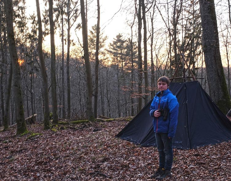 Aufbau Wühlmaus-Lager 15