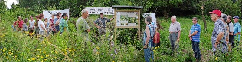 Bienenweide- Einweihung der Tafel 1