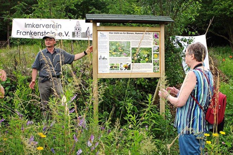 Bienenweide- Einweihung der Tafel 2