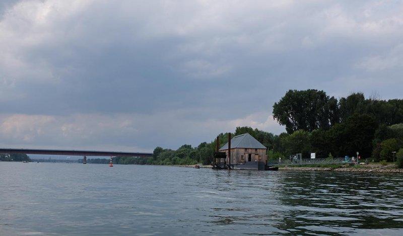 Rückfahrt Rhein Schiffsmühle