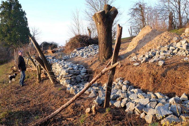 Baustelle Trockenmauer NABU-Grundstu?ck 2