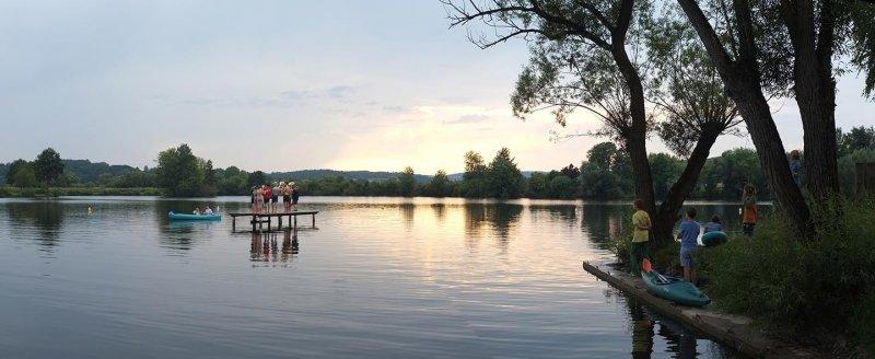 Lager Ebensfeld - Blaskapelle im Wasser 01