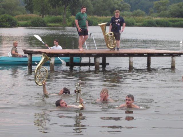 Lager Ebensfeld - Blaskapelle im Wasser 20