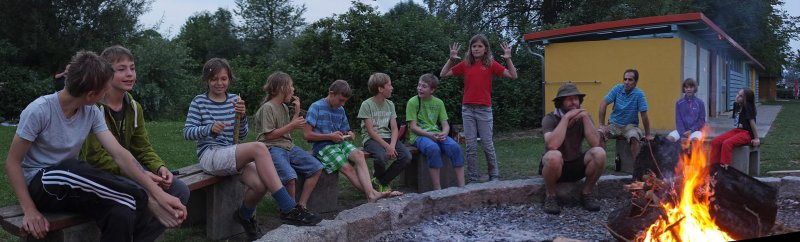 Lager Ebensfeld - Wehrwolfspiel am Lagerfeuer 4
