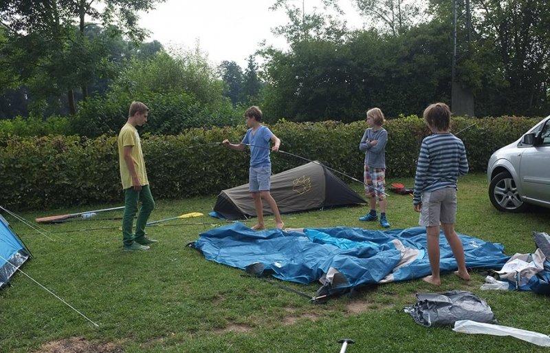Lager Ebensfeld - Zelt-Aufbau 1
