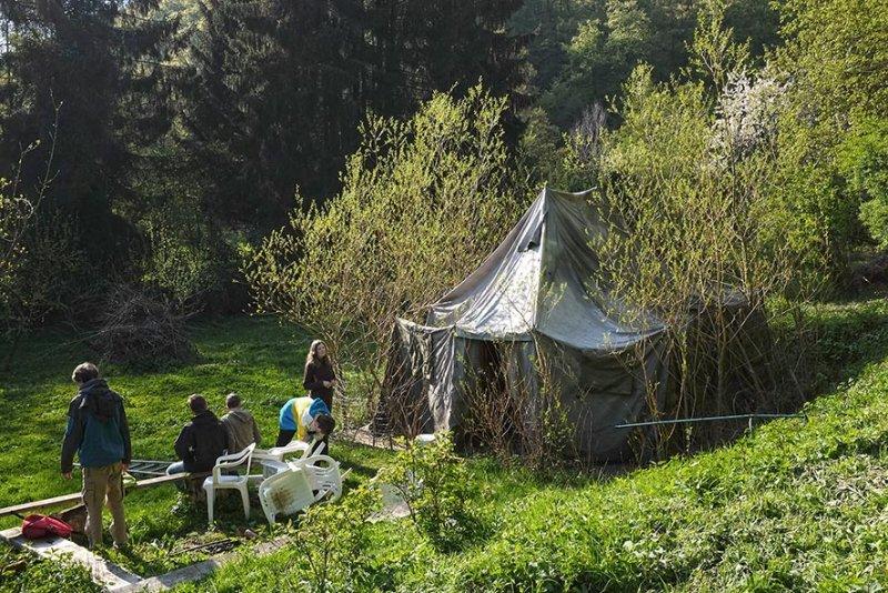 Zeltaufbau Etzwiesen