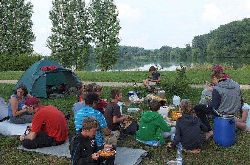 Camp Ebing - Abendessen 1