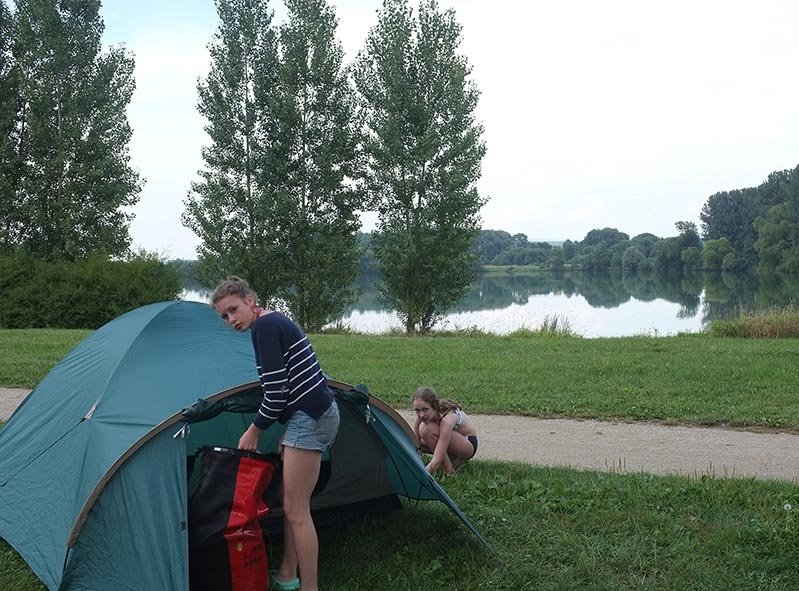 Camp Ebing - Zeltaufbau 1