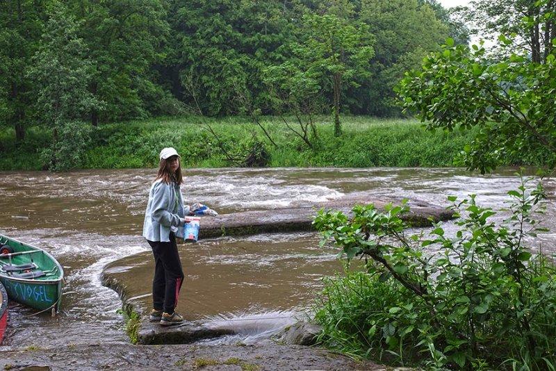Hochwasser an der Anlegestelle 08