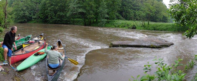 Hochwasser an der Anlegestelle 10