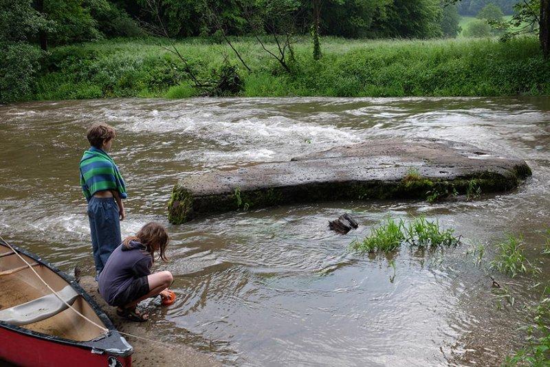 Hochwasser an der Anlegestelle 06
