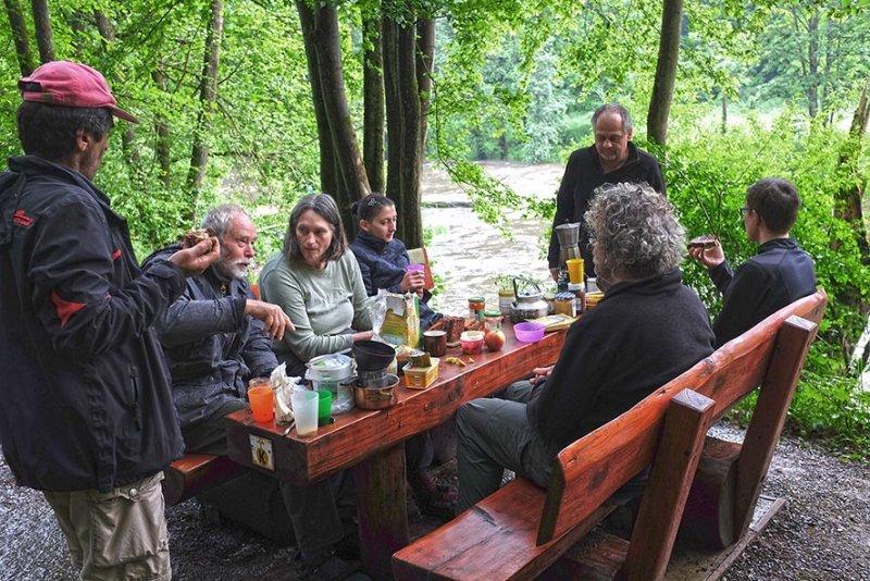 Lager Dreiecksfelsen - Morgenkaffee 2