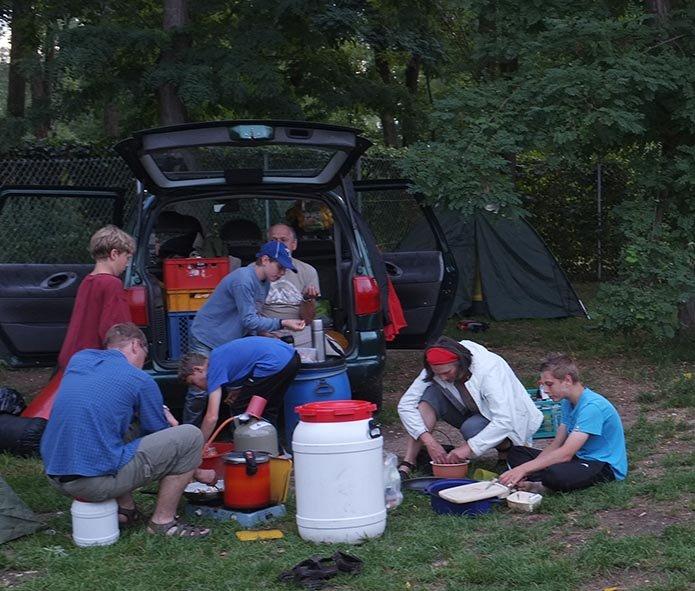 Camp Bamberg - Abendessen bereiten 1