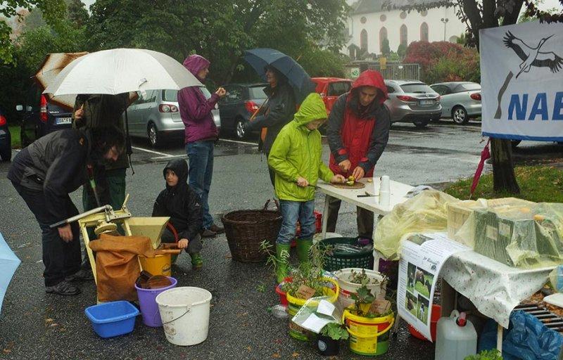 Wuehlmaeuse beim Pflanzenflohmarkt 02
