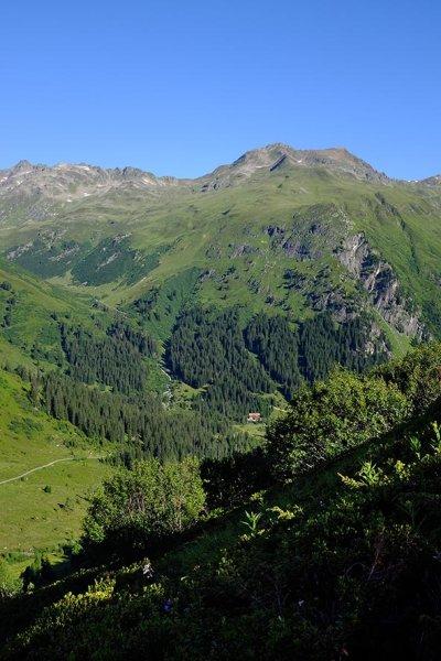 04 Aufstieg zum Pass 1 - Blick zur Konstanzer Hütte