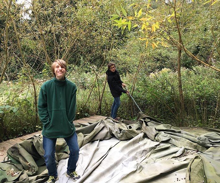 Etzwiesen Zelt-Abbau 1