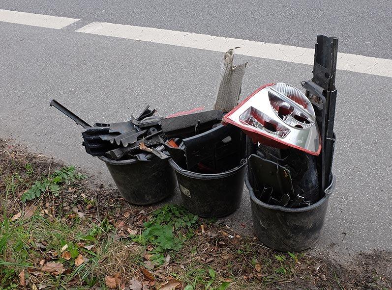 Abbau Krötenzaun B3 - Müllsammlung