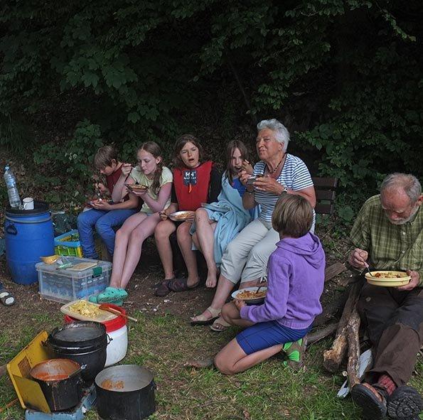 Lager Kleinvach - Abendbrot 2