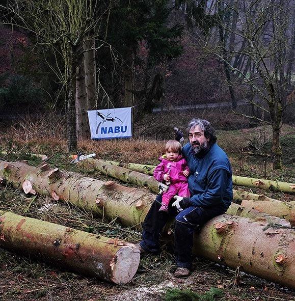 Arbeitseinsatz Etzwiesen - Ragna und Stefan
