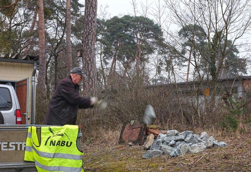 Bau Natursteinhügel 3 10x15s