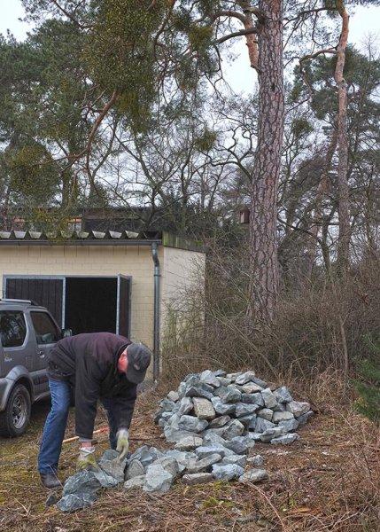 Bau Natursteinhügel 5 10x15s