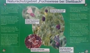 Schild am NSG Fuchswiese