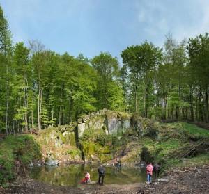 Wassersteinbruch über Malchen im Frühjahr 2013